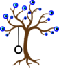 Tree With Evil Eyes Clip Art