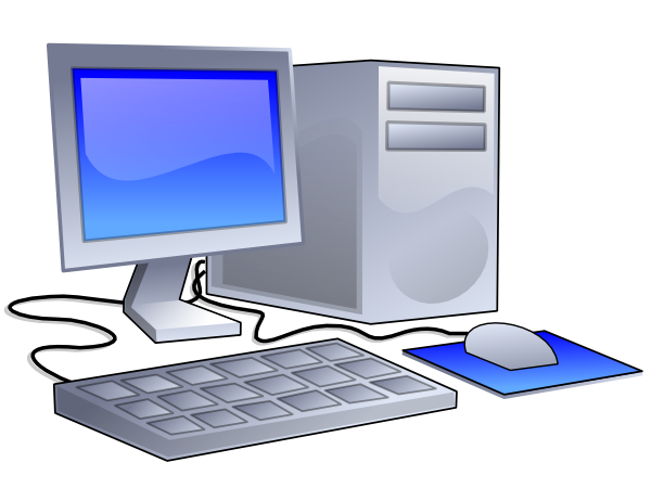 Desktop computer clip art at vector clip art Computer art software