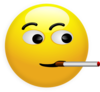 Smoking Smiley Clip Art