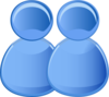 Two Users Icon Clip Art