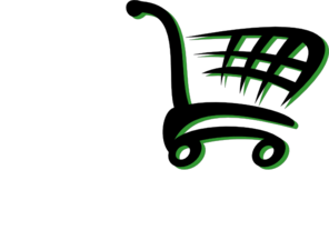 Black Green Cart Clip Art