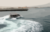 A Patrol Craft Assigned To Coast Guard Port Security Unit Three Zero Seven (psu 307) Leaves The Harbor To Monitor Activities Around Kuwait Naval Base. Clip Art