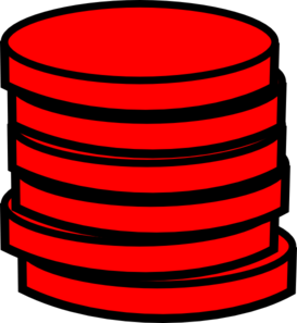 Red Coins Clip Art