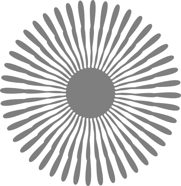 Grey Flower clip art