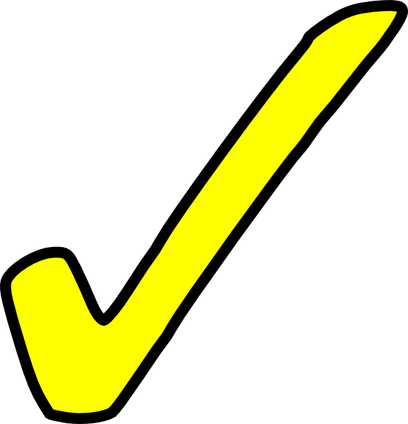 Bright Yellow Tick Clip Art At Clkercom Vector