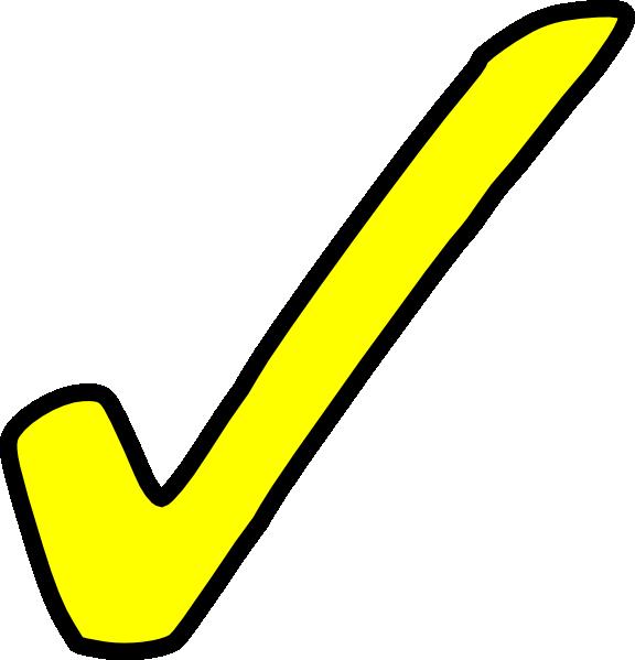 Bright Yellow Tick Clip Art at Clker.com - vector clip art ...