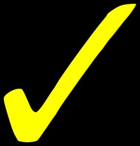 Bright Yellow Tick Clip Art at Clker.com - vector clip art online ...