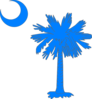 Carolina Blue Palmetto Tree Clip Art