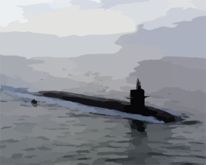 Uss Florida (ssbn 728) Makes Its Way To Its New Homeport At Naval Station Norfolk. Clip Art