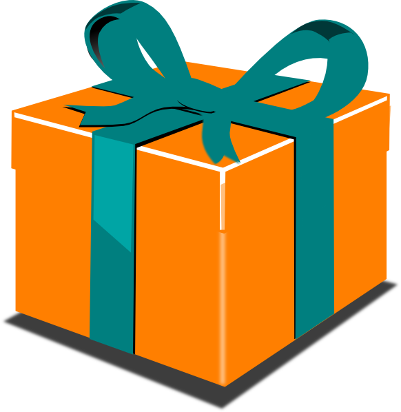 Orange green gift clip art at clker vector clip art online download this image as negle Choice Image