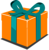 Orange Green Gift Clip Art