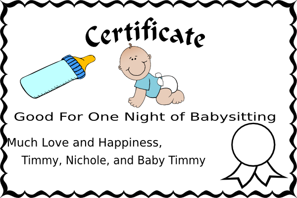 Babysitting Coupon Clip Art at Clker.com - vector clip art online ...