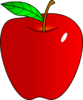 Shaded Red Apple Clip Art
