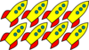 Rockets For Fluency Clip Art