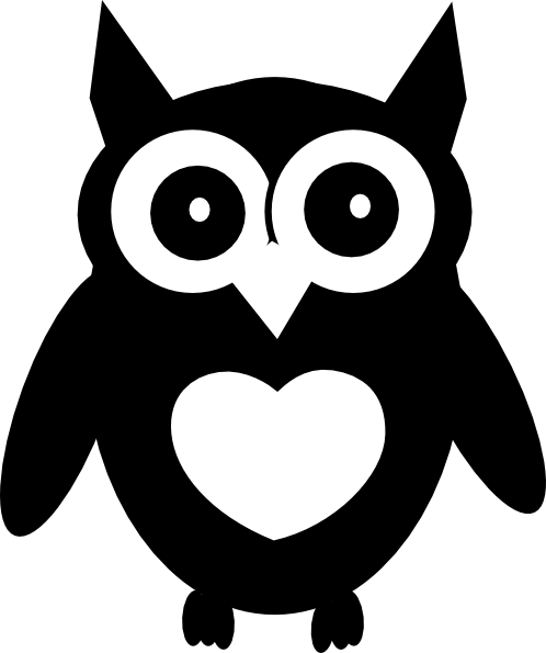 Black And White Owl Clip Art Vector Online Royalty FreeBaby Owl Clipart Black And White