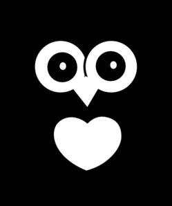 Owl With Heart Clip Art at Clker.com - vector clip art ...