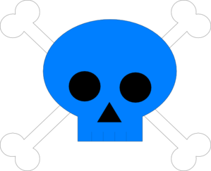 Blue Pirate Skull Clip Art