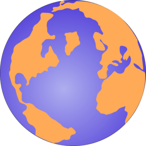 Orange And Blue Globe 3 Clip Art