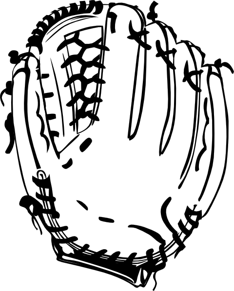 baseball glove b and w clip art at clker com vector clip art rh clker com