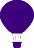 Purple Air Balloon Clip Art