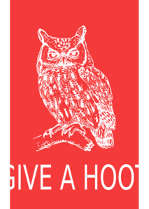 Give A Hoot Owl Poster Clip Art