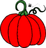 Red Pumpkin Clip Art