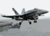 An F-18c Hornet Launches From Uss Abraham Lincoln. Clip Art