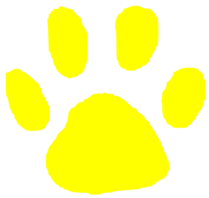Tiger Paw Yellow Clip Art