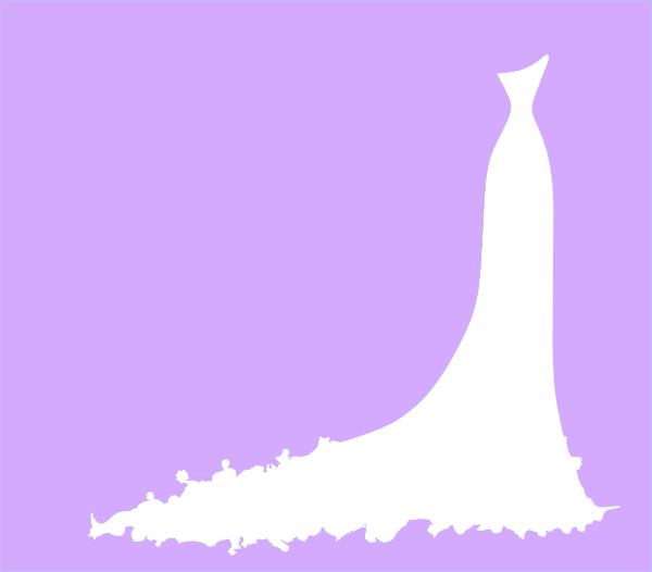 wedding dress clip art at clkercom vector clip art