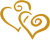 Gold Hearts Clip Art