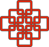 Celtic Knot Red +fix+ Clip Art