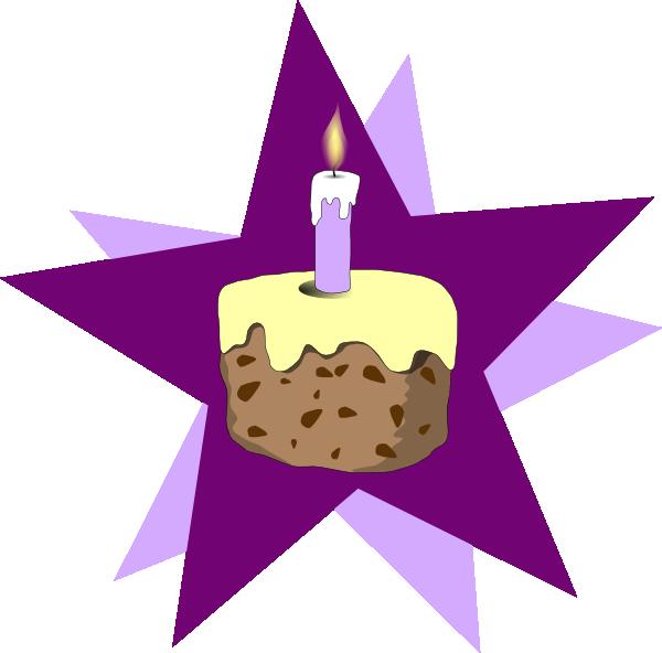 Purple Cake Clip Art at Clker.com - vector clip art online ...