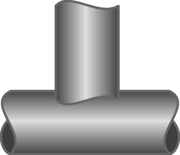 T Pipe Junction Clip Art At Clker Com Vector Clip Art