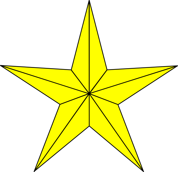 North Star Yellow Clip Art Vector Online Royalty Free Tattoo