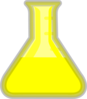 Yellow Flask Clip Art