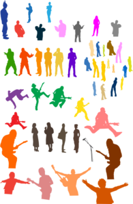 People Silhouettes Clip Art