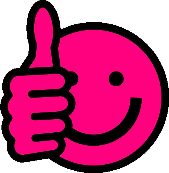 hot pink thumbs up clip art at clker com vector clip art online rh clker com