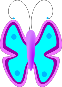Butterfuly Blue Clip Art