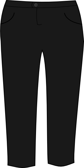 Trousers Black Clip Art at Clker.com - vector clip art online royalty free u0026 public domain