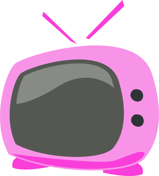 Pink Cartoon Tv Clip Art at Clker.com - vector clip art online ...