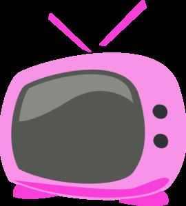 pink cartoon tv clip art at vector clip art online royalty free public domain. Black Bedroom Furniture Sets. Home Design Ideas