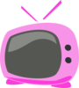 Pink Cartoon Tv Clip Art