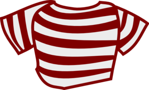 Maroon Striped Shirt Clip Art