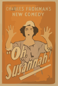 Charles Frohman S New Comedy, Oh, Susannah! 2 Clip Art