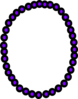 Necklace Purple Beads Clip Art
