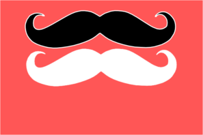 Double Moustaches Clip Art