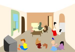 Living Room Clip Art at Clker.com - vector clip art online ...