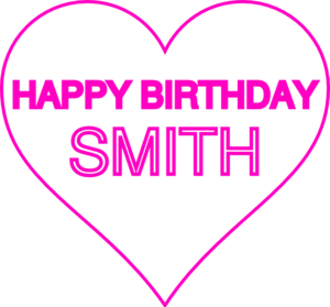 Smith Bday12 Clip Art