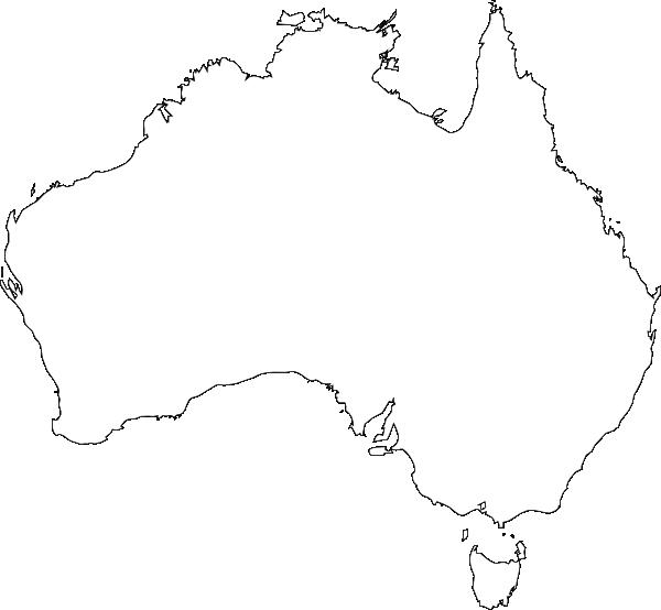 Australia Outline Clip Art at Clker.com - vector clip art