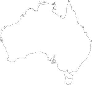 Australia Map Outline Vector.Australia Outline Clip Art At Clker Com Vector Clip Art Online